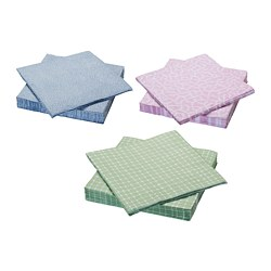 ENTUSIASM paper napkin, assorted colors
