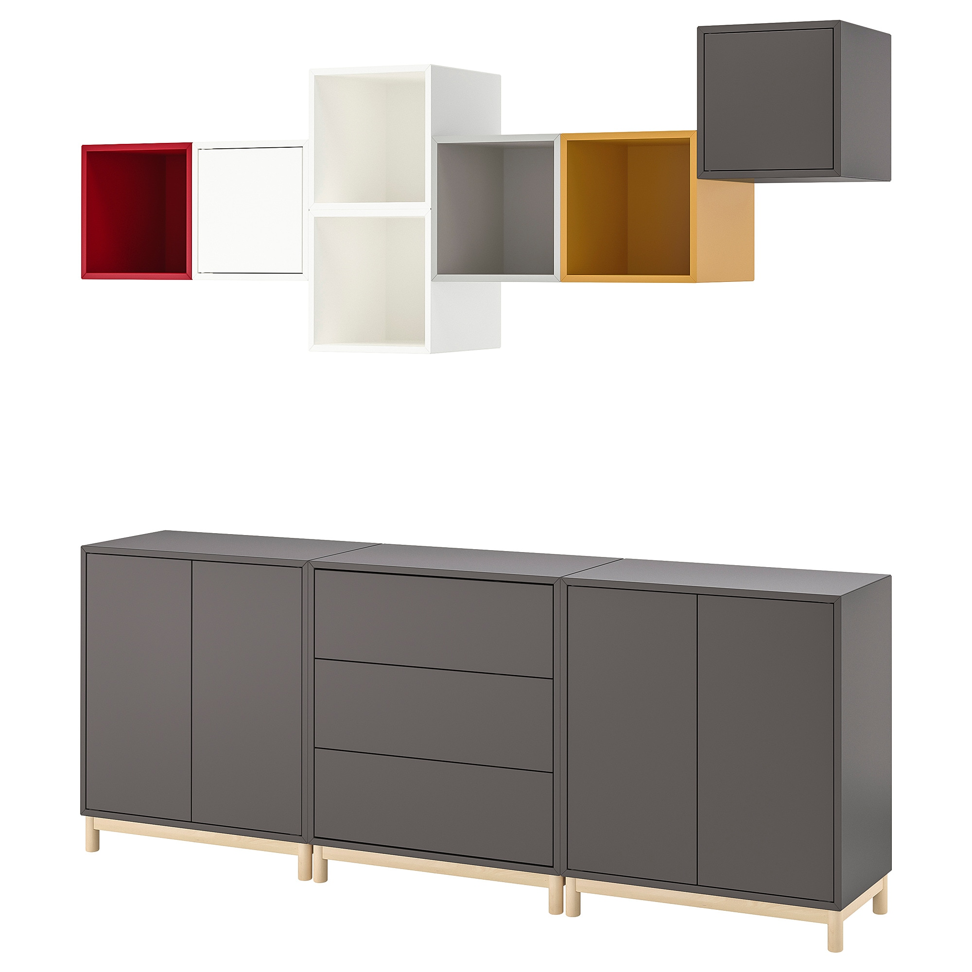 Eket Cabinet Combination With Legs Multicolour 1 Ikea
