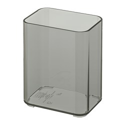 BROGRUND tumbler, transparent gray