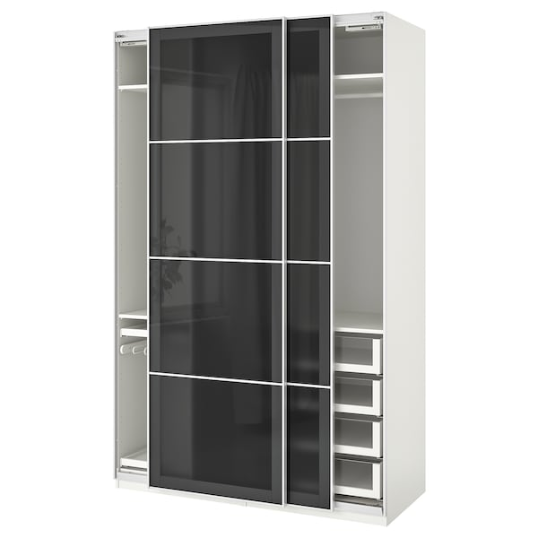 Pax Penderie Armoire BlancUggdal Gris Verre O0knwP