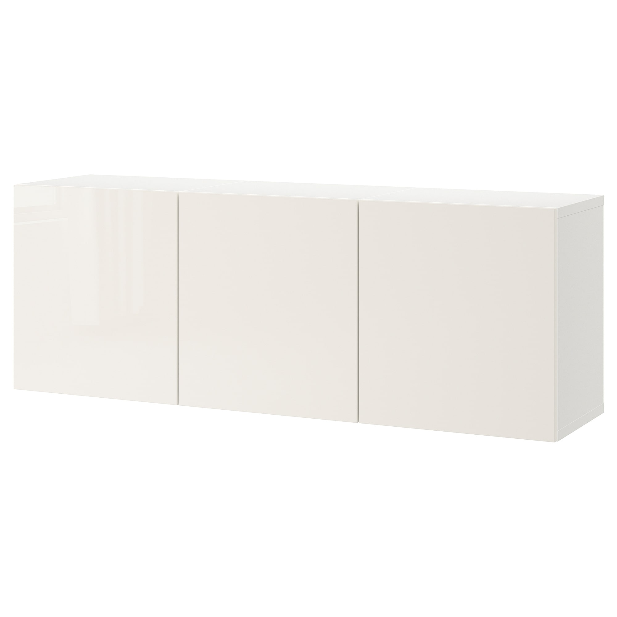 Wall Mounted Cabinet Combination BestÅ White Selsviken High Gloss