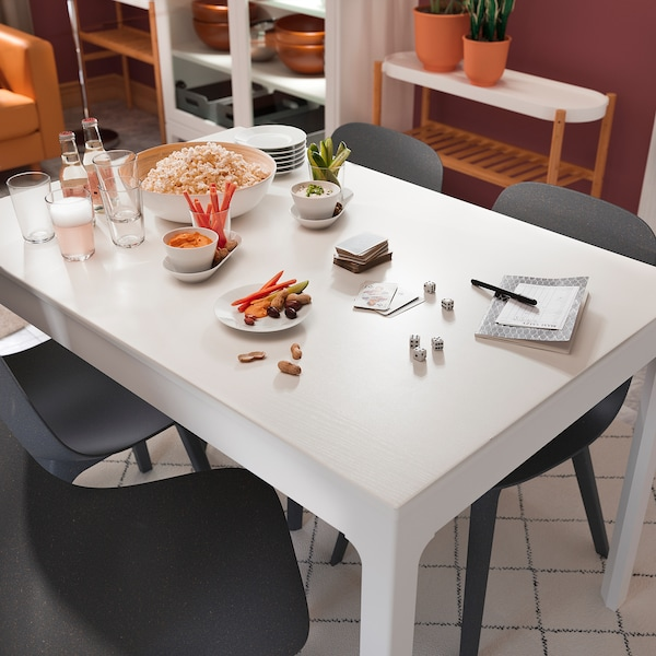 EKEDALEN Extendable table - white - IKEA