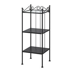 RÖNNSKÄR shelving unit, black