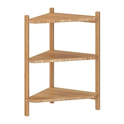 RÅGRUND wash-basin/corner shelf, bamboo