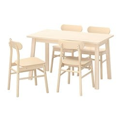 NORRÅKER /  RÖNNINGE table and 4 chairs, birch, birch
