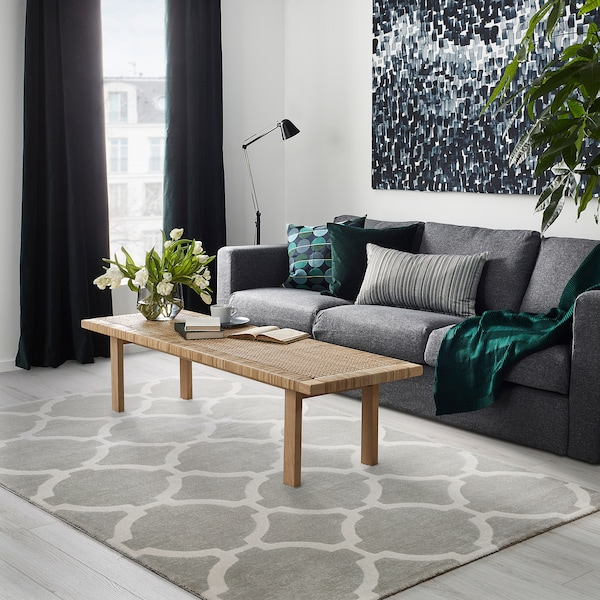 Rug Low Pile Hillested Gray White