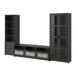Brimnes Tv Storage Combination Gl Doors 363 00 Unit Price