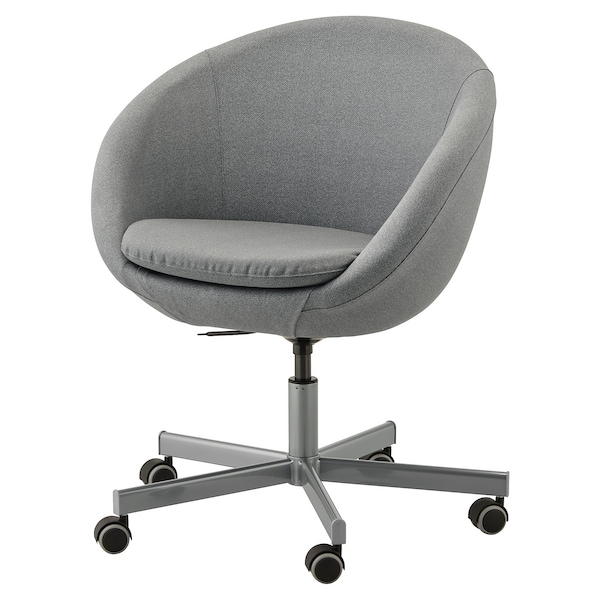 SKRUVSTA Swivel chair - Flackarp medium grey - IKEA