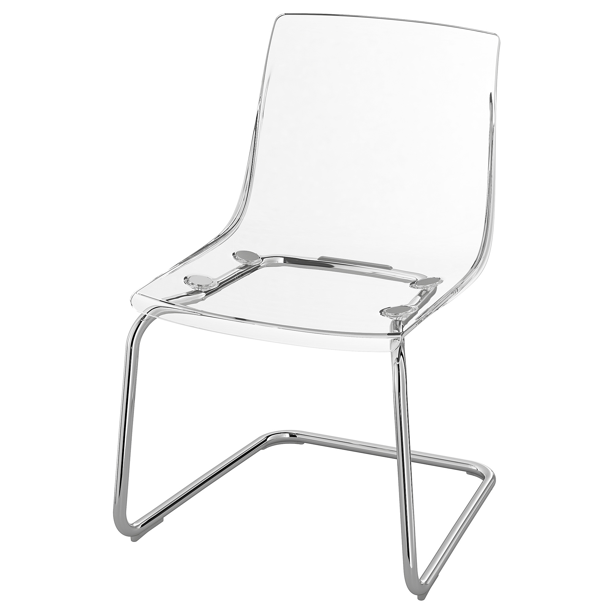 TOBIAS Chair - transparent, chrome plated - IKEA