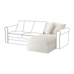 GRÖNLID chaise longue section, Inseros white
