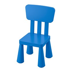 MAMMUT children's chair, in/outdoor, blue