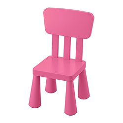 MAMMUT children's chair, in/outdoor, pink