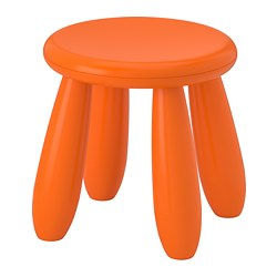 MAMMUT children's stool, in/outdoor, orange