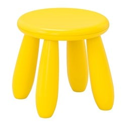 MAMMUT children's stool, in/outdoor, yellow