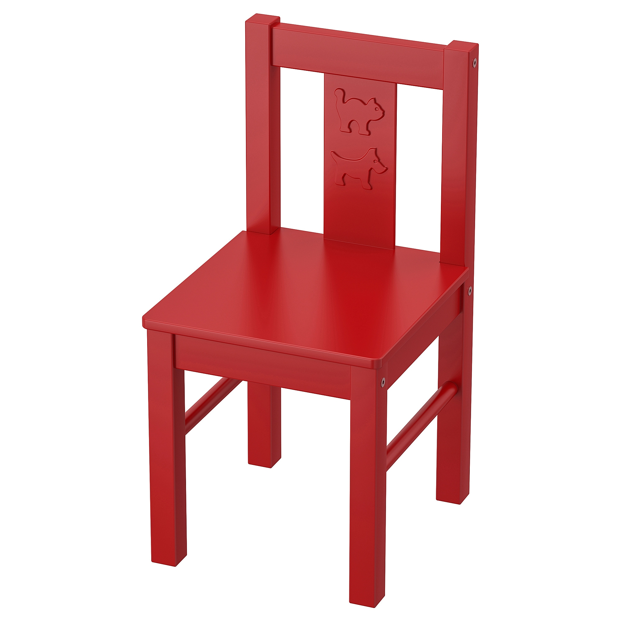 KRITTER Children's chair - red - IKEA