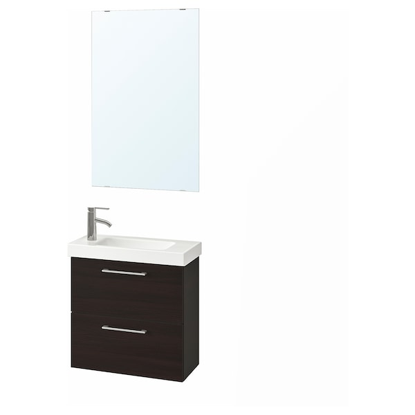 Godmorgon Hagaviken Bathroom Furniture Set Of 4 Black Brown