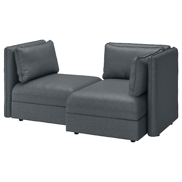 Miraculous 2 Seat Modular Sofa With Sofa Bed Vallentuna And Storage Hillared Dark Grey Onthecornerstone Fun Painted Chair Ideas Images Onthecornerstoneorg