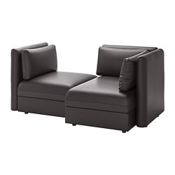 VALLENTUNA 2-seat modular sofa, with storage, Murum black