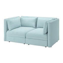 VALLENTUNA modular loveseat, Hillared light blue