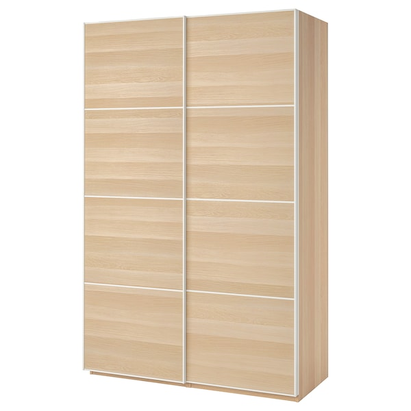Ikea Guardaroba Planner.Wardrobe Pax White Stained Oak Effect Mehamn White Stained Oak Effect