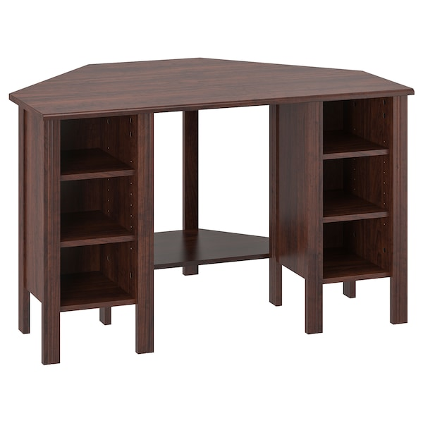 Corner desk BRUSALI brown