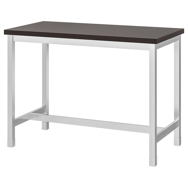 Table De Bar Noir.Table De Bar Utby Brun Noir Acier Inoxydable