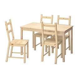 INGO / IVAR table and 4 chairs, pine