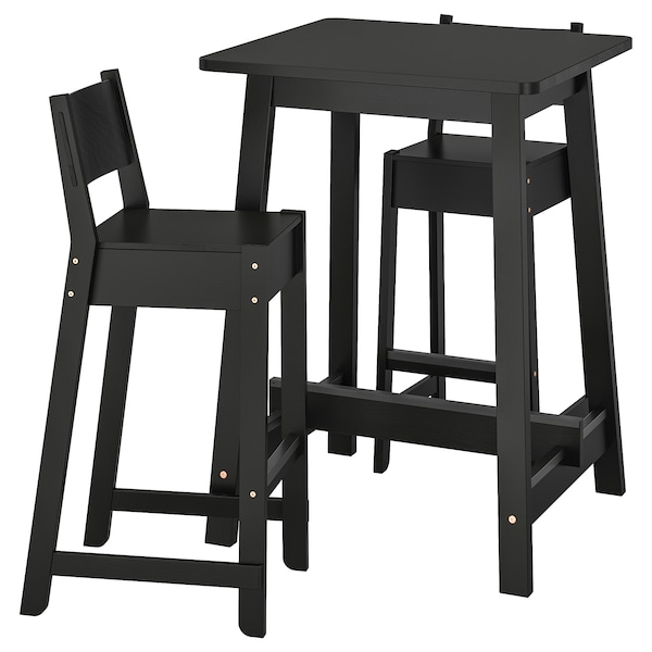Bar Table And 2 Stools NorrÅker Black