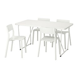 RYDEBÄCK/ BACKARYD /  JANINGE table and 4 chairs, white, white