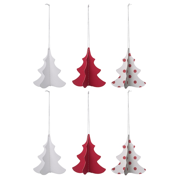 Christmas Toppers For Cupcakes.Hanging Decoration Vinterfest Christmas Tree Red White