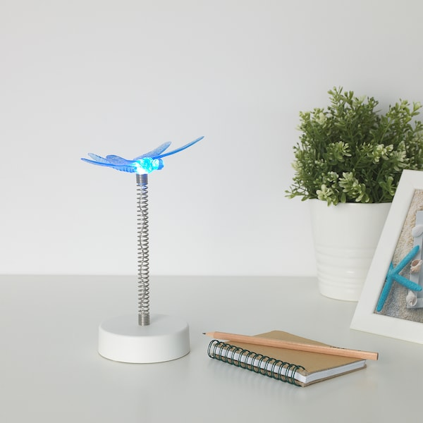 SKINA LED table lamp - battery-operated, dragonfly - IKEA