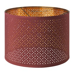 NYMÖ lamp shade, dark red, brass color