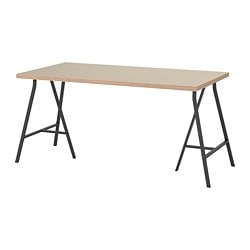 LINNMON /  LERBERG table, beige, gray