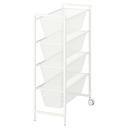 IKEA JONAXEL Frame with mesh baskets/casters