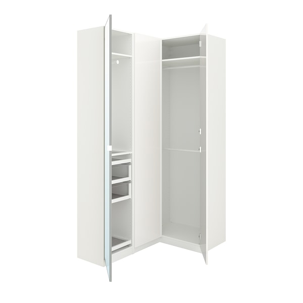 pax armoire d 39 angle blanc fardal vikedal ikea. Black Bedroom Furniture Sets. Home Design Ideas
