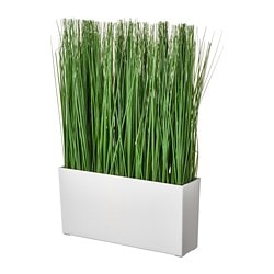 FEJKA artificial potted plant with pot, grass