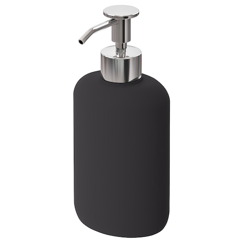 EKOLN dispensador xabón gris escuro 18 cm 300 ml