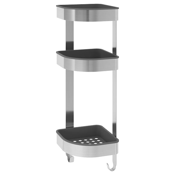 Corner Wall Shelf Unit Brogrund Stainless Steel