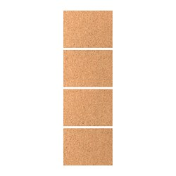 KIRKENES 4 panels for sliding door frame, cork veneer