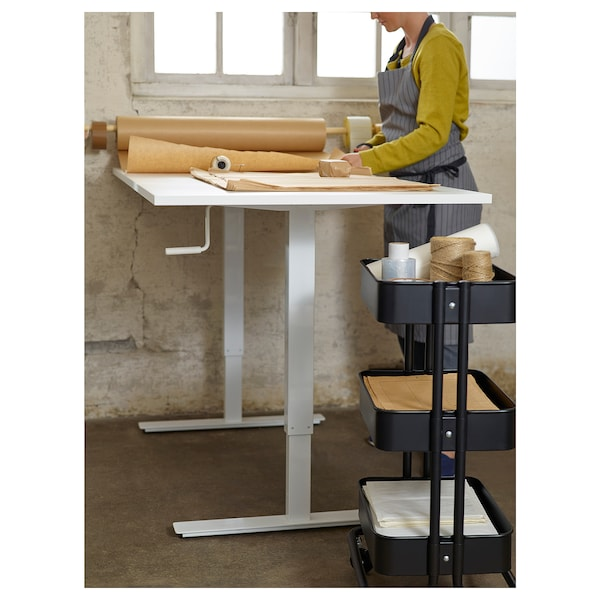 SKARSTA Desk sit/stand, white