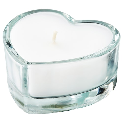 IKEA VINTERFEST Unscented candle in glass