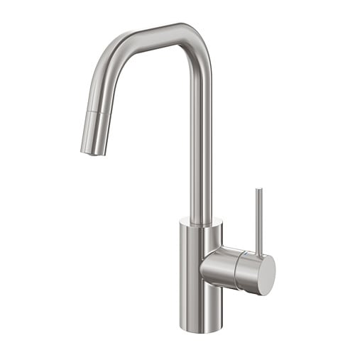 Kitchen faucet with pull-out spout ÄLMAREN stainless steel color