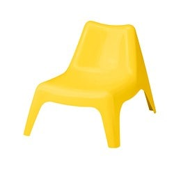 BUNSÖ children's easy chair, outdoor, yellow
