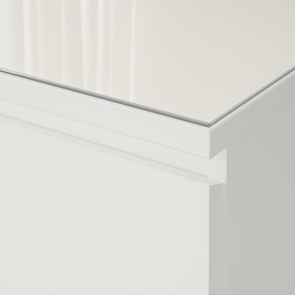 Glass Top Malm White