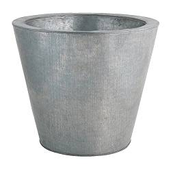 "HUSÖN plant pot, galvanized Outside diameter: 15 "" Max. diameter inner pot: 12 ½ "" Height: 13 "" Outside diameter: 38 cm Max. diameter inner pot: 32 cm Height: 33 cm"