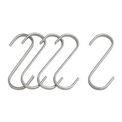 GRUNDTAL s-hook, stainless steel Height: 7 cm Package quantity: 5 pack