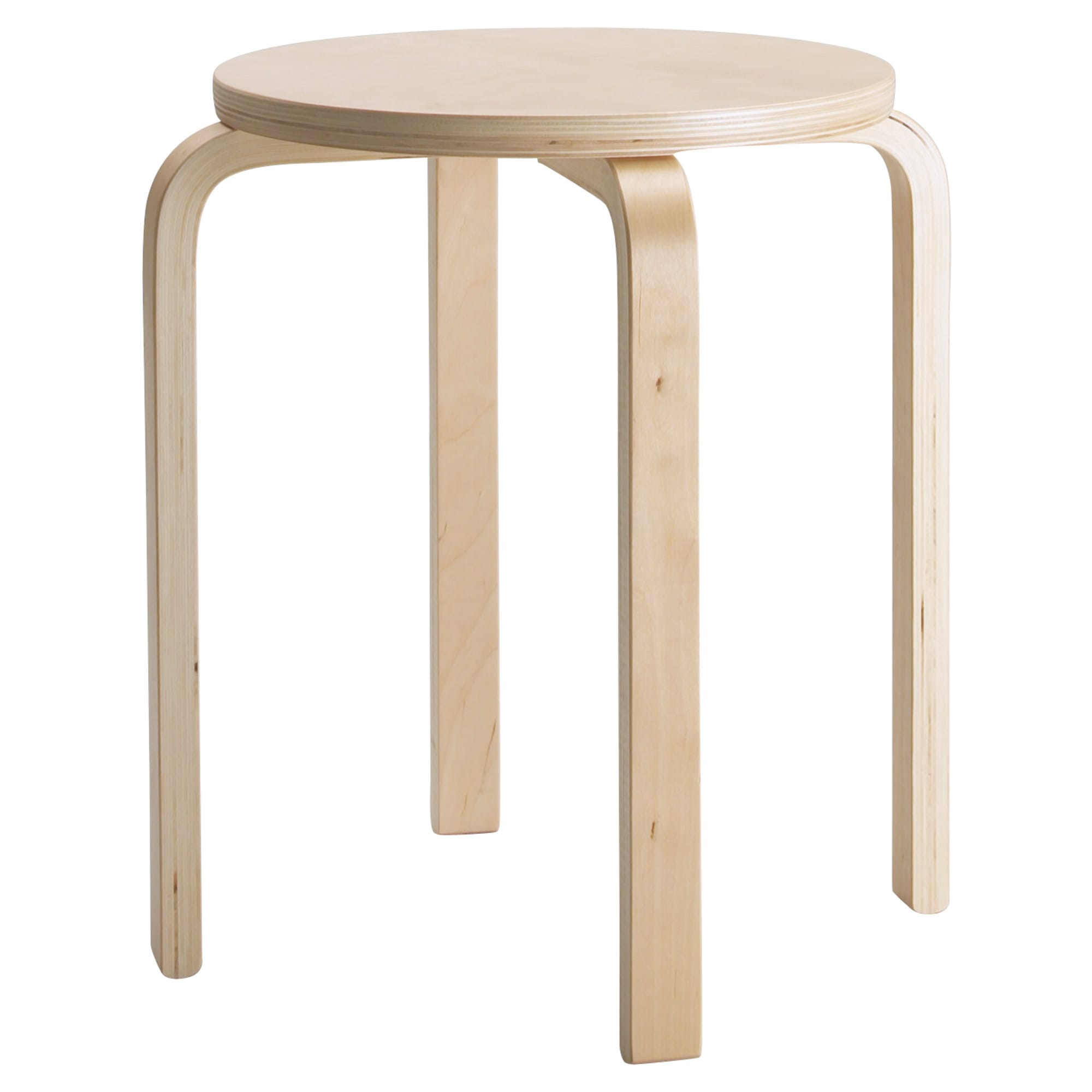 FROSTA Stool, Birch Plywood Tested For: 220 Lb Seat Diameter: 13 3/