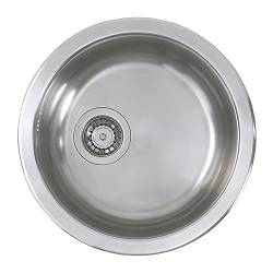 "BOHOLMEN single-bowl inset sink, stainless steel Length: 17 3/4 "" Length: 45.0 cm"