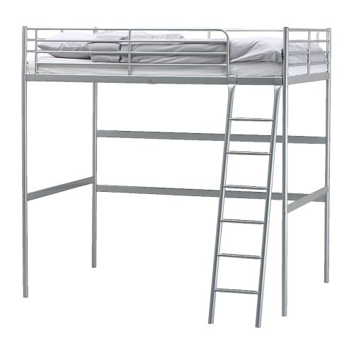 Wts rare ikea troms loft bunk bed frame doubledecker queen size - Lit queen size dimension ...