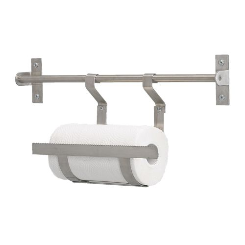 IKEA GRUNDTAL STAINLESS STEEL KITCHEN ROLL HOLDER
